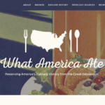 Screen shot of What American Ate web site