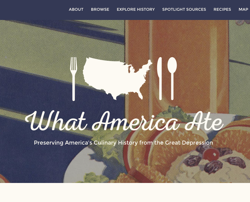 What America Ate Project Image